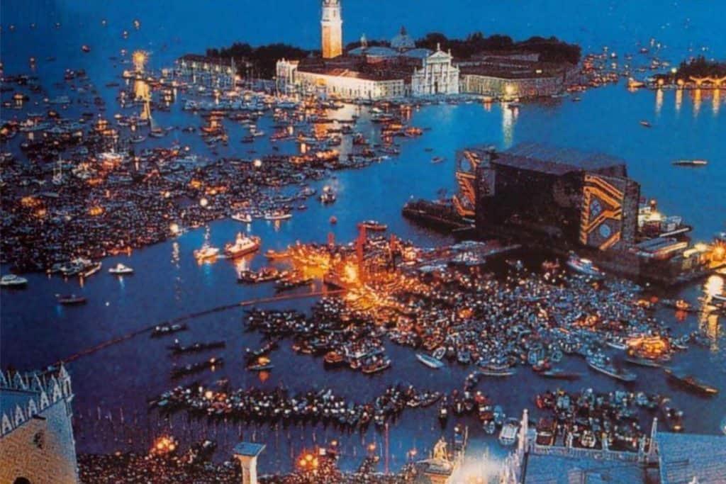 concert de Pink Floyd à Venise