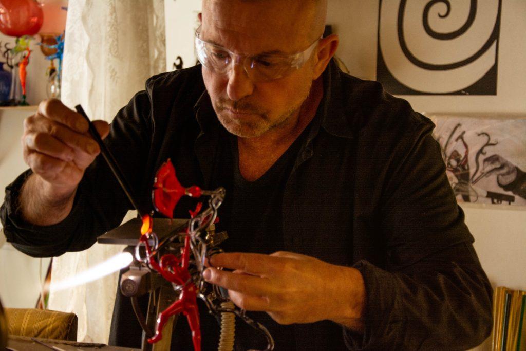 Lavorazione artigianale del vetro di Murano