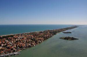 Lido di Venezia dall'elicottero