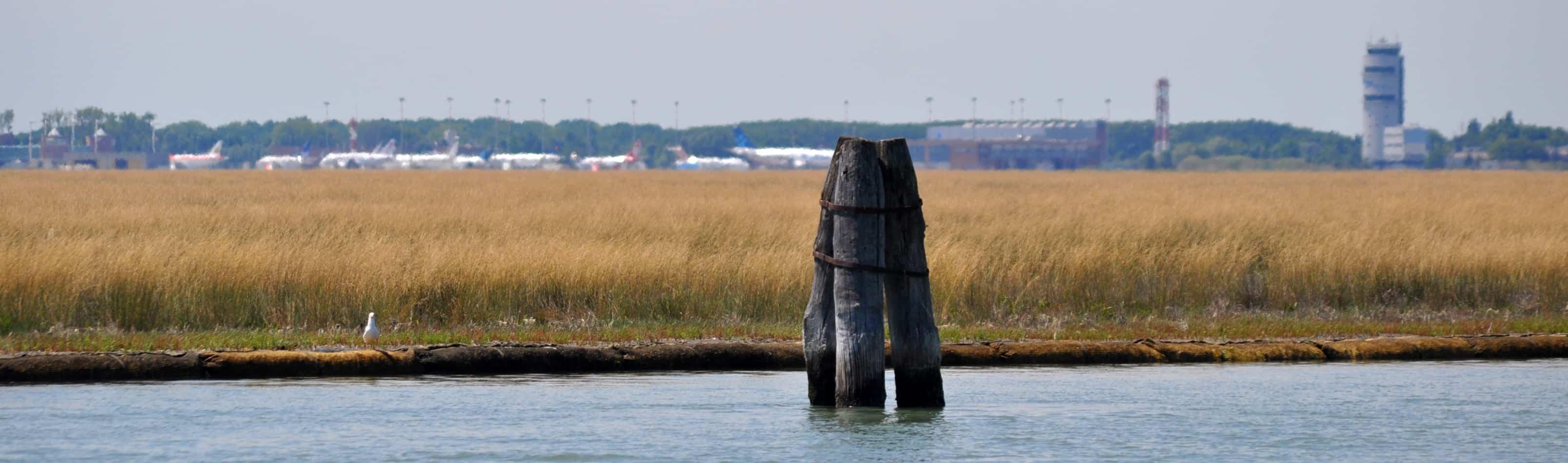 Flughafen Venedig Marco Polo : der schöne ausblick auf die Lagune!