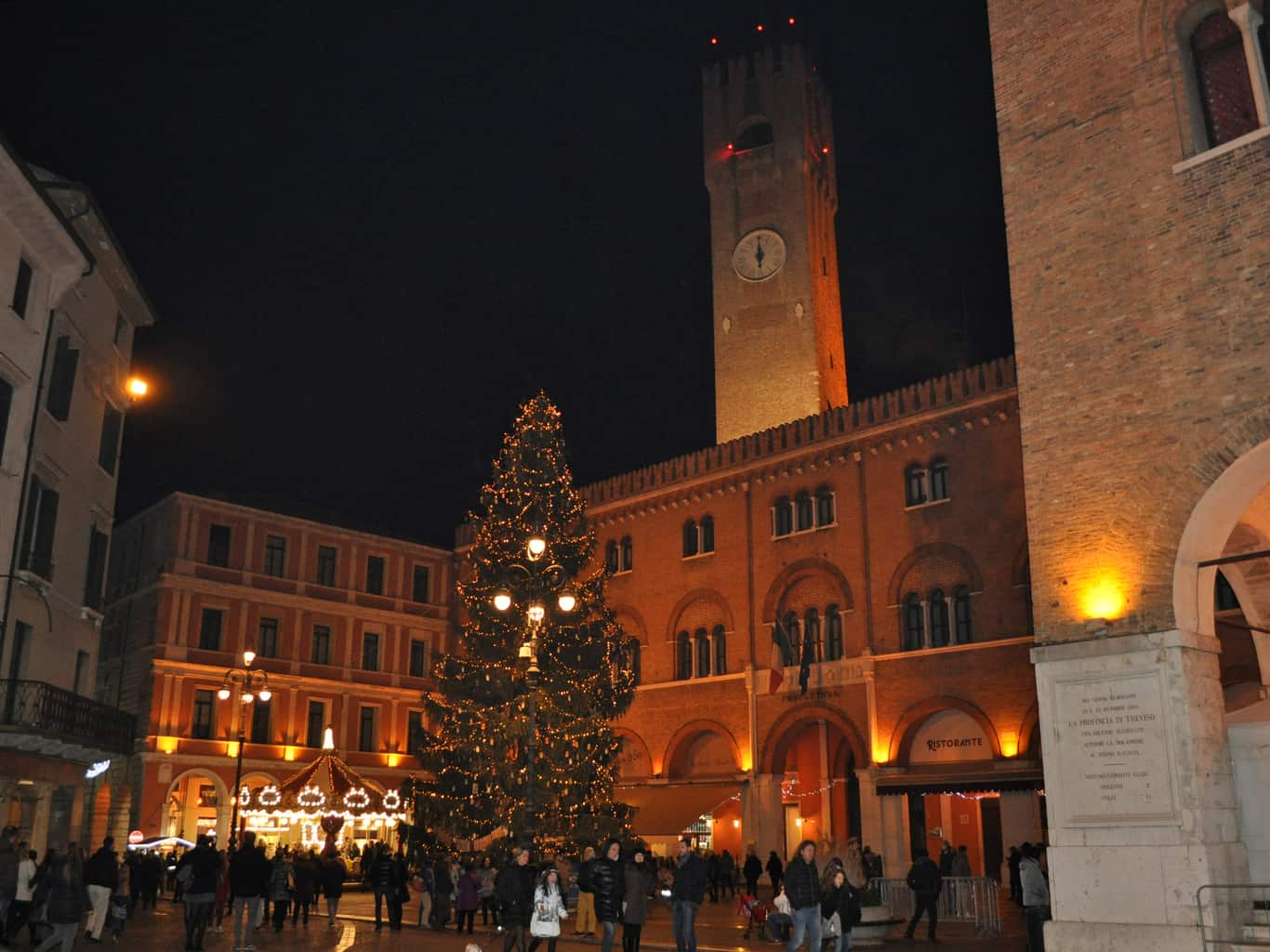 Treviso. Piazza dei Signori a Capodanno