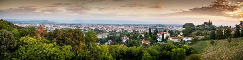 Veduta panoramica della città di Vicenza