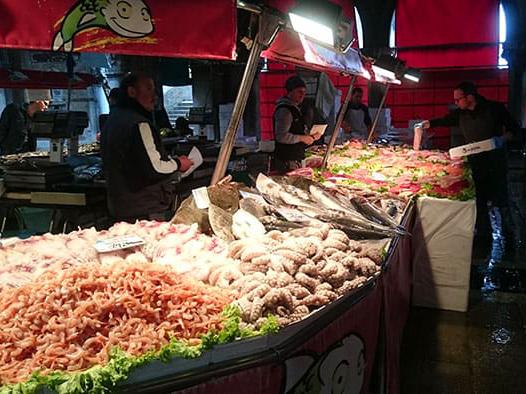 Banco di pesce. Mercato di Rialto