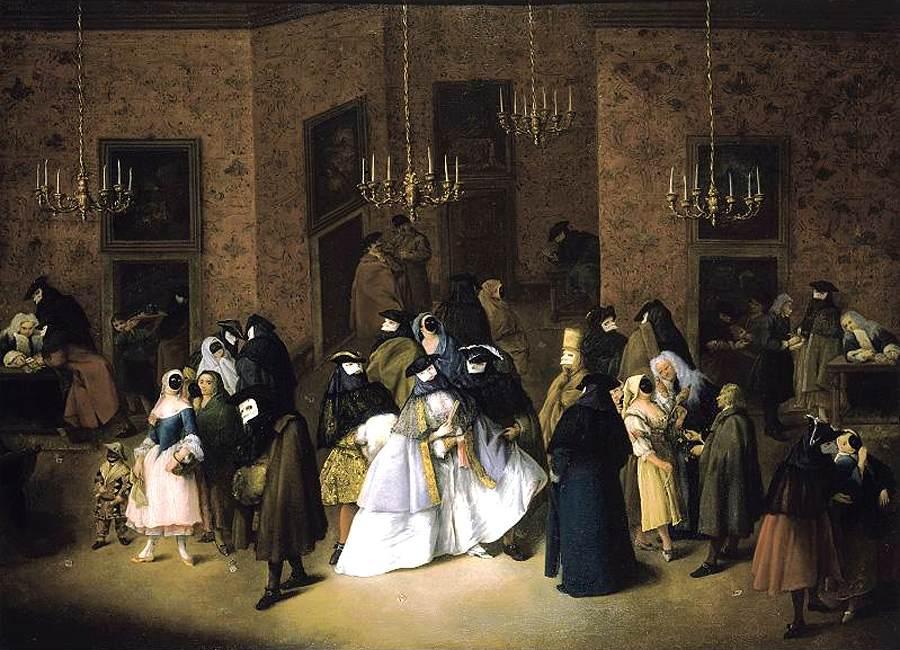 Venice Carnival History - Ridotto 1750