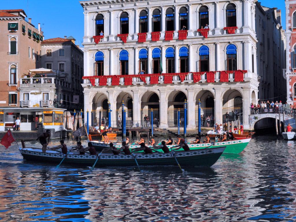 Regata Storica Venezia. Imbarcazione 8 remi