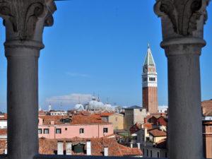 Musei a Venezia. Scala Contarini del Bovolo. Vista