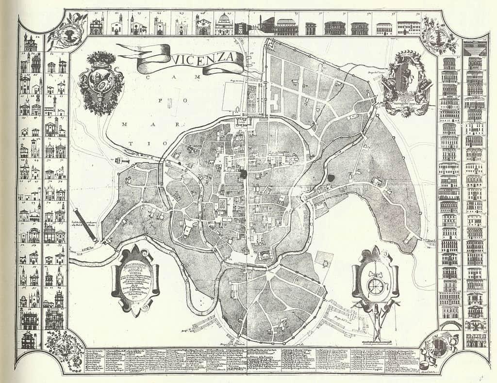 10 cose da fare a Vicenza: Antica mappa della città