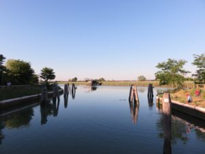 Un pontile da pesca a Venezia