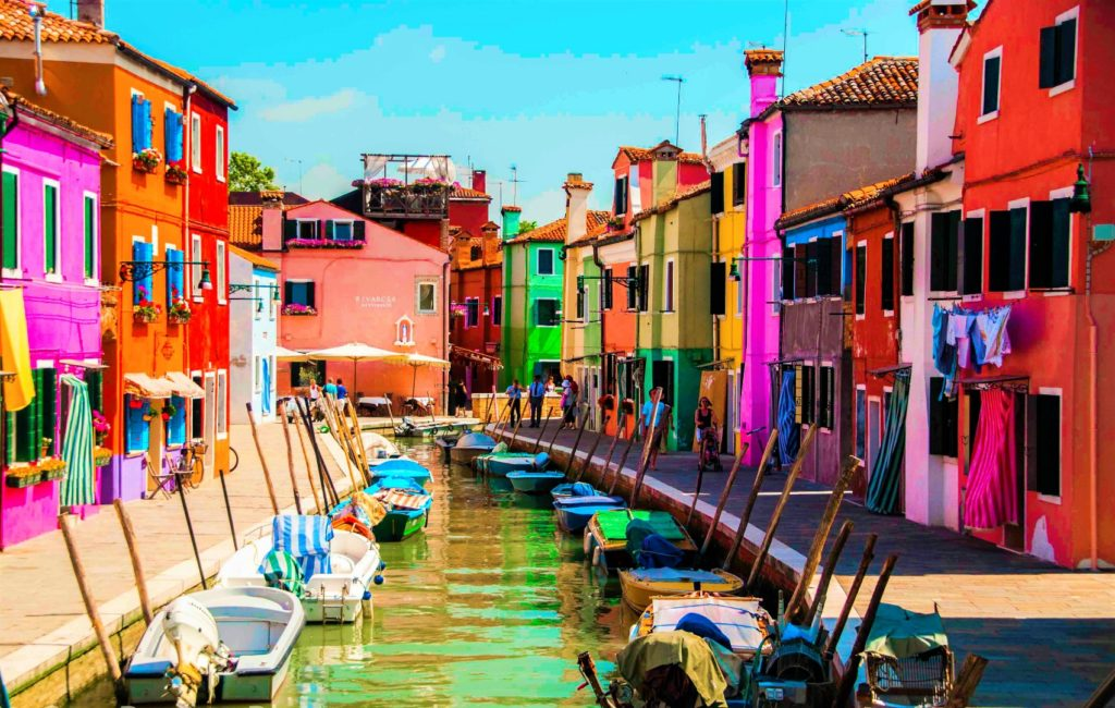 Torcello und Burano.