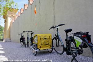 Noleggio Ebike nei Colli Euganei: Carrello porta-bambini