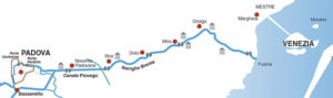 Riviera del Brenta: mappa con punti di interesse