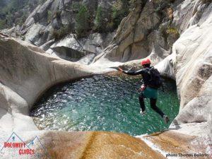 Attività di canyonig nevegal in italy