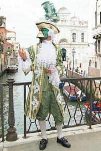 Carnevale di Venezia. Vestiti da uomo