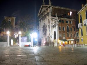 Concerto Vivaldi Venezia. Chiesa San Vidal di sera