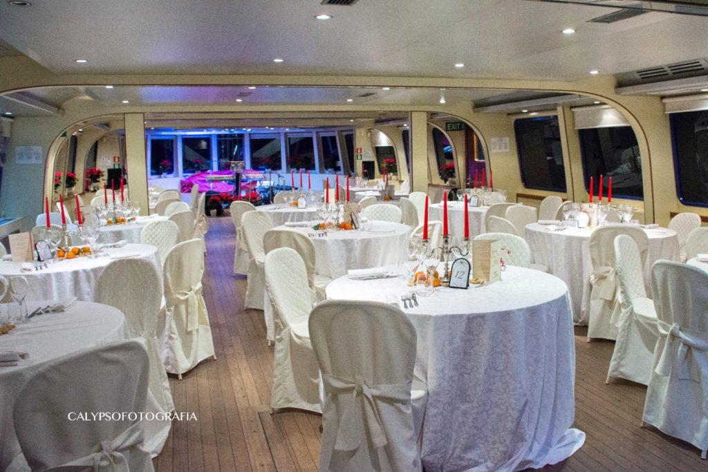 Cena di gala per capodanno in barca