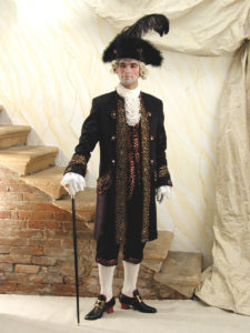 Noleggio costumi Venezia da uomo del 700`