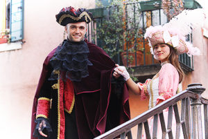 Photoshoot in abito del Carnevale
