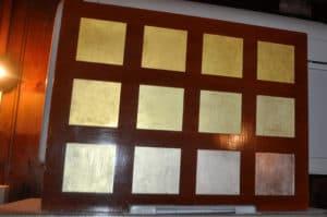 Tipi di fogli d`oro. Laboratorio battiloro Venezia