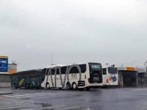 Fermata alla stazione ferroviaria di Mestre della navetta express ATVO per aeroporto