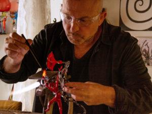 Lavorazione vetro Murano. Corso di modellazione vetro