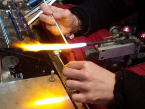 Lavorazione delle perle di vetro di Murano