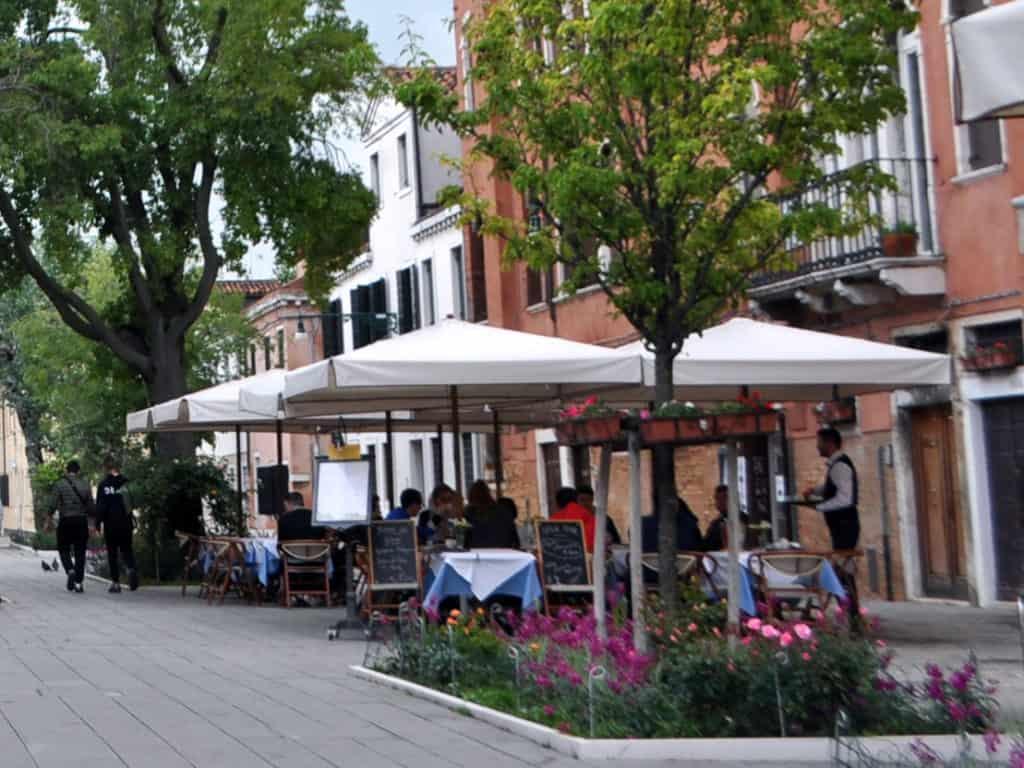 Tipico ristorante a Venezia