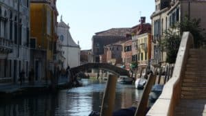 canal view venice photo