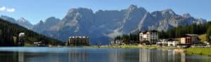 Vénétie. Lac de Misurina, près des Dolomites de Belluno