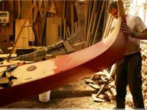 Верфь Сан Тровазо в Венеции, где создают и ремонтируют гондолы