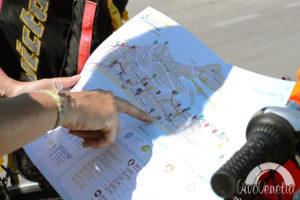 mappa del percorso in bici kayak a cavallino