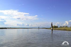 paesaggio della laguna veneta con mare e cielo