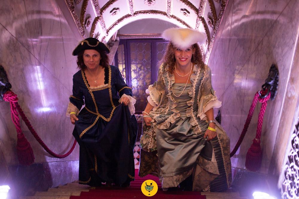 Feste di Carnevale a Venezia con costumi