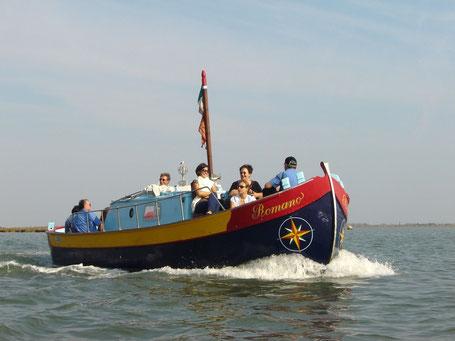 Bragozzo. tipica barca nella laguna Veneta