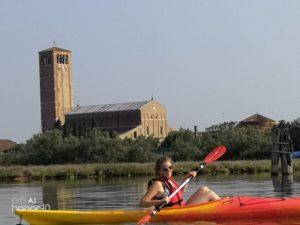 Kayak in laguna veneta
