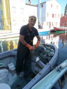 Pesca nella laguna di Venezia